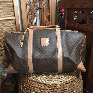 Vintage Celine Macadam Boston bag overnight bag